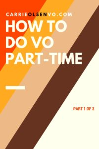 how to do voiceover part-time