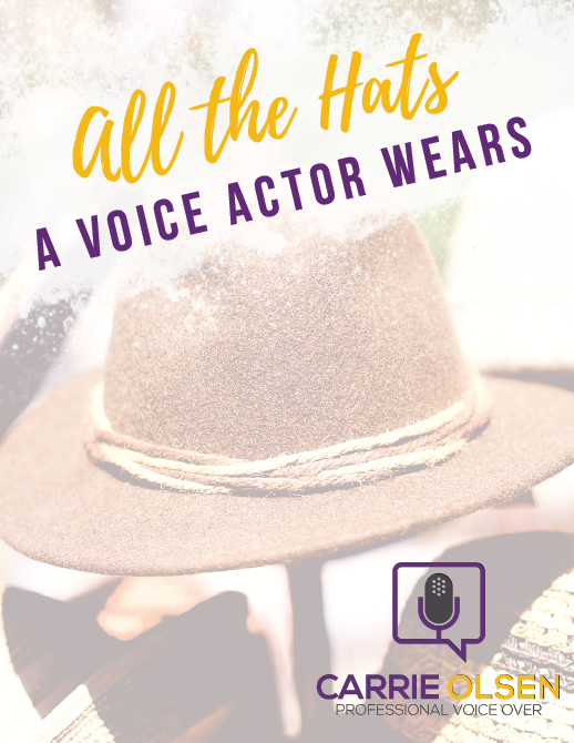 all the hats a voice actor wears