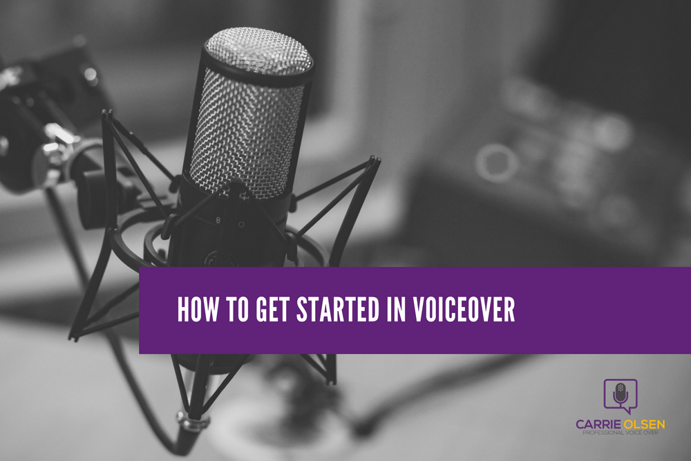 how to get started in voiceover as a voice actor