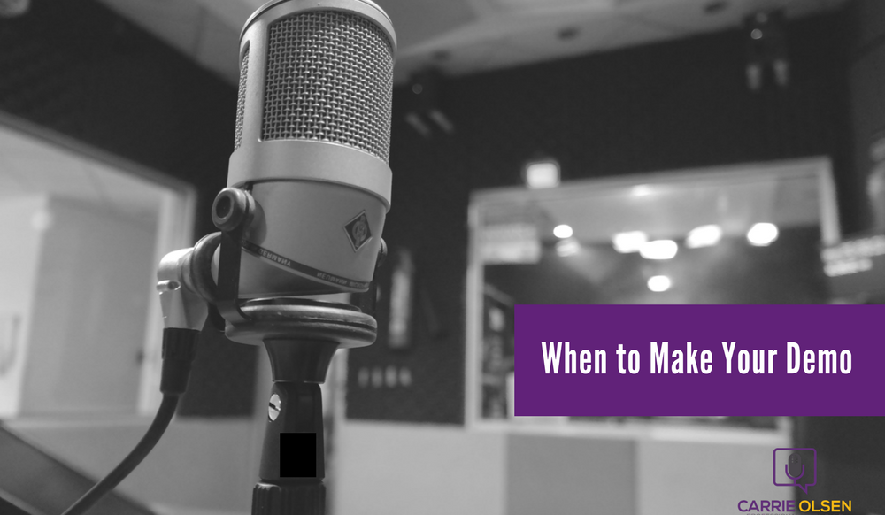 when to make your voiceover demo