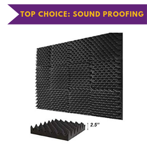 Blocks Size Soundproofing Foam Acoustic Eggcrate 2.5 inch Peak Tiles Studio Foam Sound Wedges
