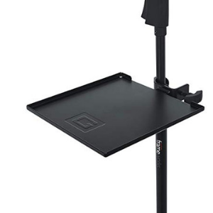 "Gator Frameworks Microphone Stand Clamp-On Utility Shelf; 9"" x 9"" Surface Area with 10 pound Weight Capacity (GFW-SHELF0909)"