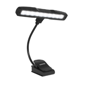 Kootek Clip On Book Lights Music Light Stand 10 LED Orchestra Lamp Adjustable Neck Reading Light Rechargeable USB Desk Lamp