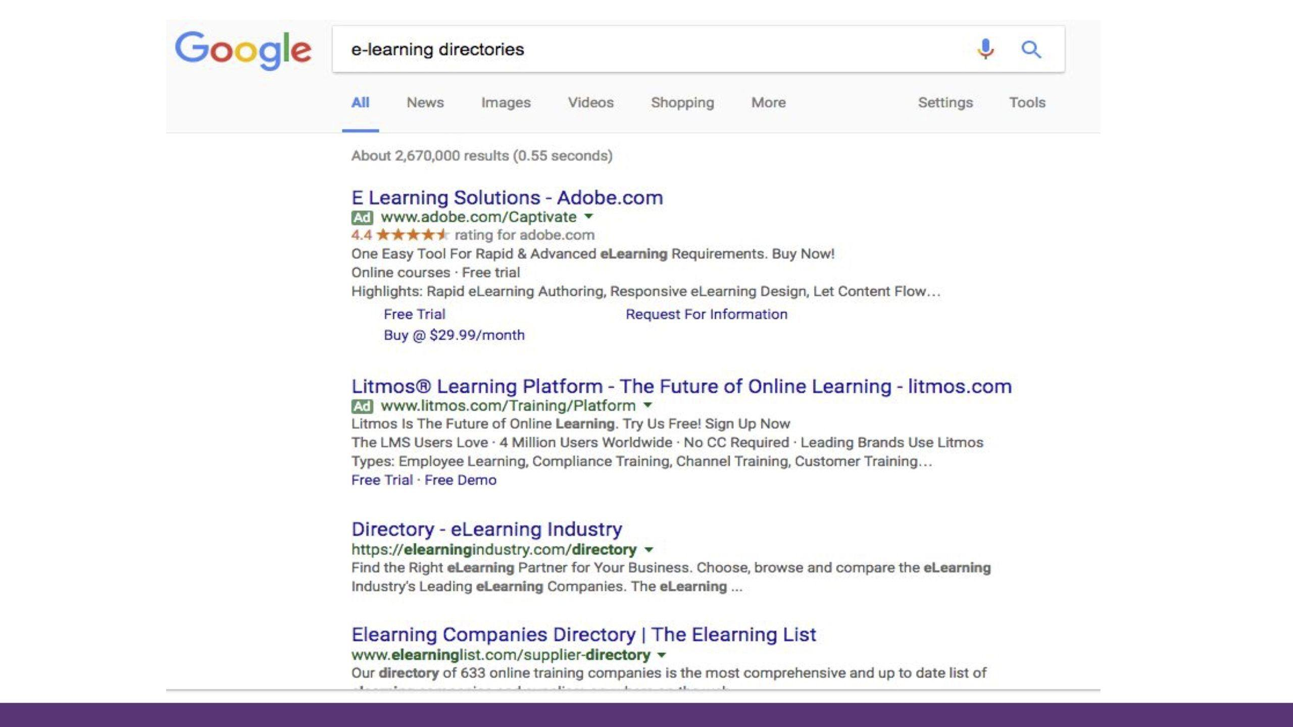 Elearning directories